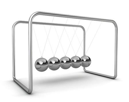ball pendulum - 3d render on white Stock Photo - 16544561