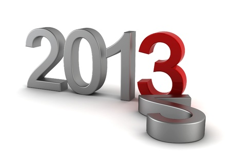 2013 text - 3d render on white Stock Photo - 16612532