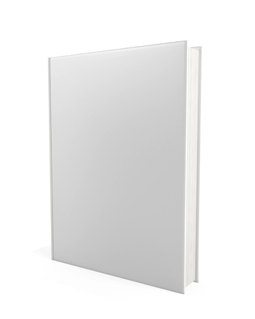 paperback: Blank book. 3d illustration on white background