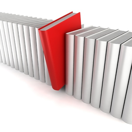 Unique book. 3d illustration on white background