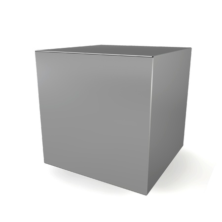 alling: Blank cube. 3d illustration on white background