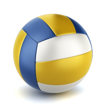 pelota de voley: Bola de voleibol. Ilustración 3D sobre fondo blanco