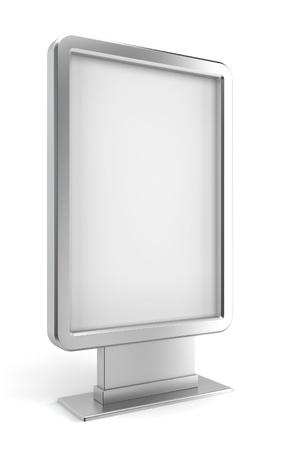 vertical banner: Vertical billboard. 3d illustration on white background