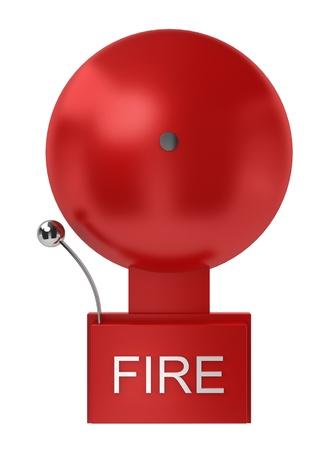 Fire alarm. 3d illustration on white background  illustration
