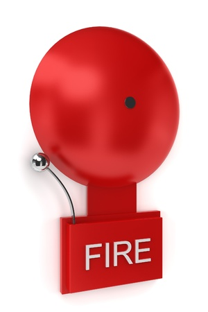 Fire alarm. 3d illustration on white background illustration