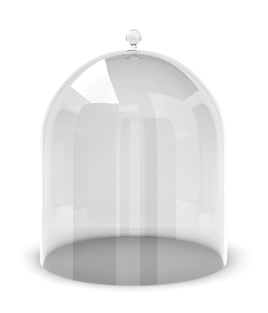 Glass bell. 3d illustration on white background  版權商用圖片