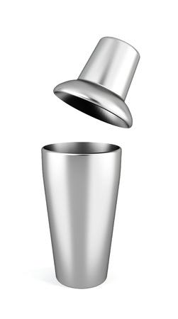 bar tool: Bar shaker. 3d illustration on white background  Stock Photo