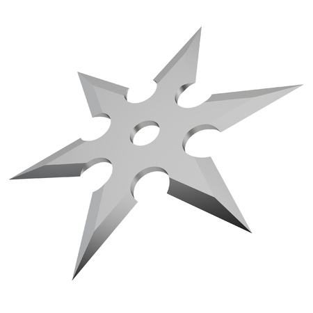 Shuriken. 3d illustration on white background  illustration