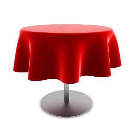 Round table. 3d illustration on white background
