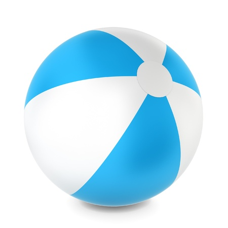 Beach ball. 3d illustration on white background  illustration