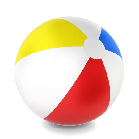 3d ball: Beach ball. 3d illustration on white background