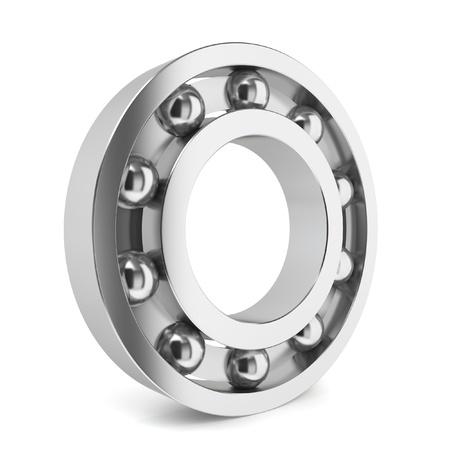 ball bearing: Steel ball bearing. 3d illustration on white background