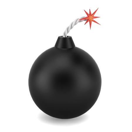 Bomb. 3d illustration on white background