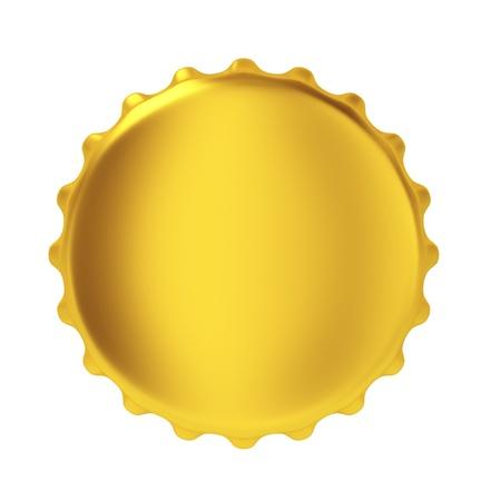 single beer: Bottle cap. 3d illustration on white background