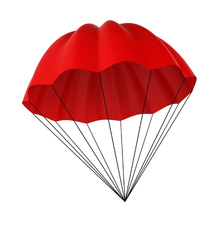 skydive: Parachute. 3d illustration on white background