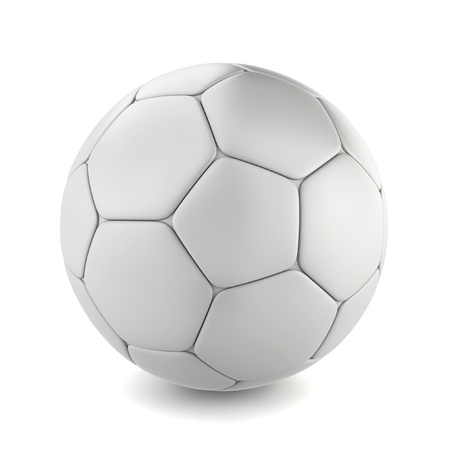 3d ball: Soccer ball. 3d illustration on white background