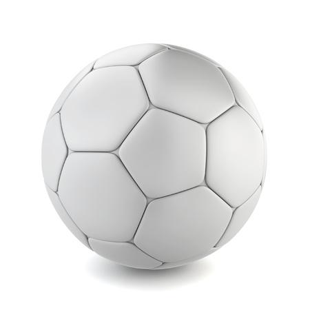 Voetbal. 3D-afbeelding op een witte achtergrond