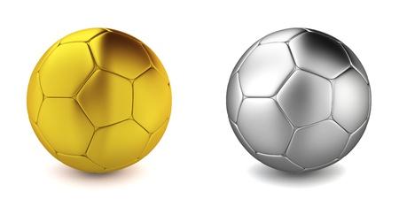 Soccer ball. 3d illustration on white background  illustration