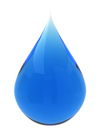 teardrop: Water drop. 3d illustration on white background  Stock Photo