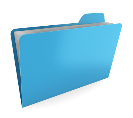 one sheet: Folder with files. 3d illustration on white background