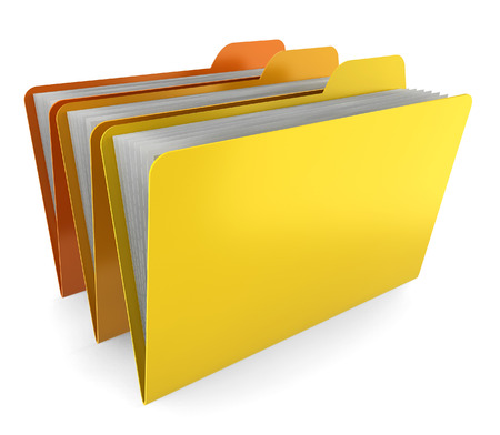 Three folders. 3d illustration on white background  illustration