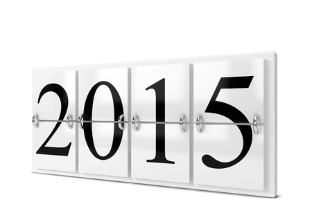 2015 year counter. 3d illustration isolated on white background illustration
