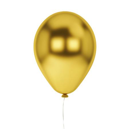 helium balloon: Single baloon. 3d illustration isolated on white background Stock Photo