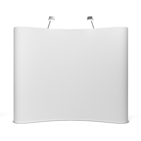 trades: Trade show booth. 3d illustration isolated on white background Stock Photo