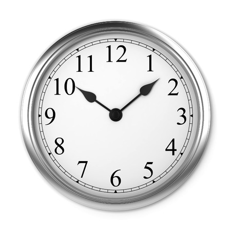 Wall clock. 3d illustration isolated on white background