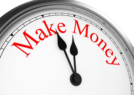 Time to make money. 3d illustration isolated on white background illustration