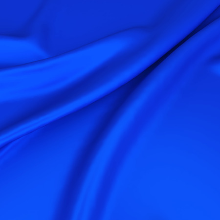 blue silk: Cloth folds. 3d background Stock Photo