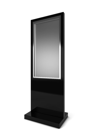 flat display panel: Lcd display stand. 3d illustration isolated on white background