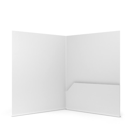 empty pocket: Blank paper folder. 3d illustration isolated on white background Stock Photo