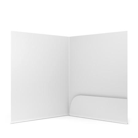 Cartella di carta bianco. 3d illustrazione isolato su sfondo bianco Archivio Fotografico - 34165677
