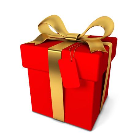 Gift box. 3d illustration isolated on white background illustration