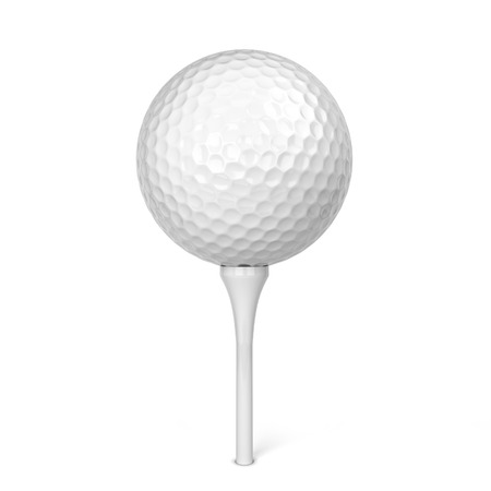 Golf ball. 3d illustration isolated on white background