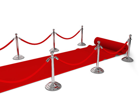 red carpet background: Red carpet. 3d illustration isolated on white background Stock Photo