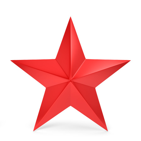 Red star. 3d illustration isolated on white background illustration