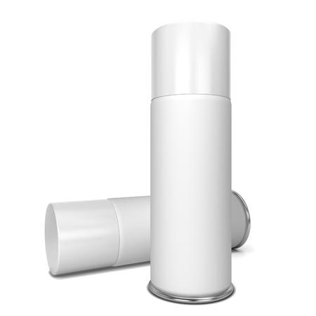 Blank spray. 3d illustration isolated on white background Stock Photo