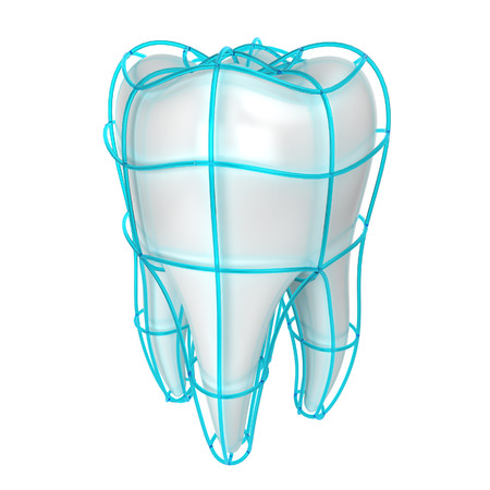 mouth cavity: Tooth protection. 3d illustration isolated on white background
