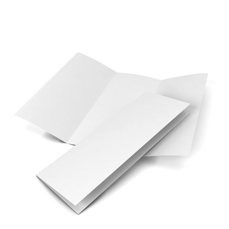 Blank brochure. 3d illustration isolated on white background 版權商用圖片