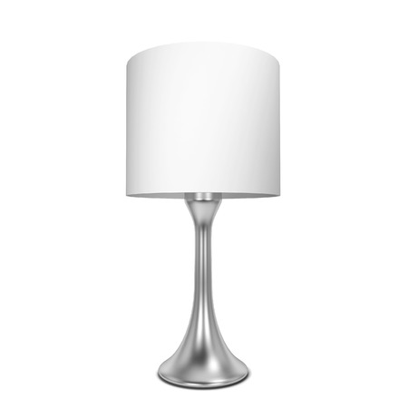 lampshade: Table lamp. 3d illustration isolated on white background