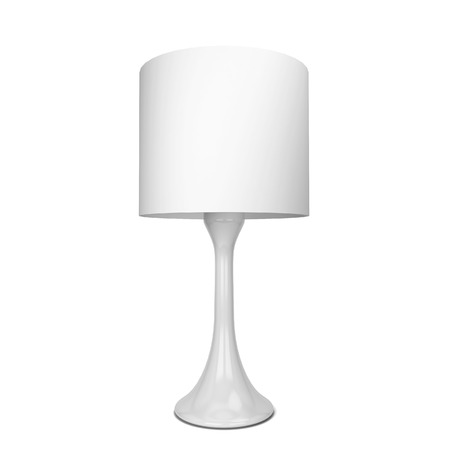 table lamp: Table lamp. 3d illustration isolated on white background
