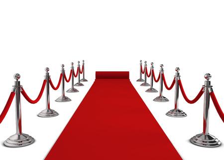 Red carpet. 3d illustration isolated on white background illustration