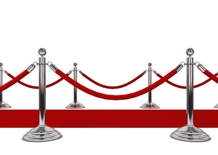 Red carpet. 3d illustration isolated on white background illustration