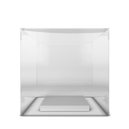 Empty showcase. 3d illustration isolated on white background illustration