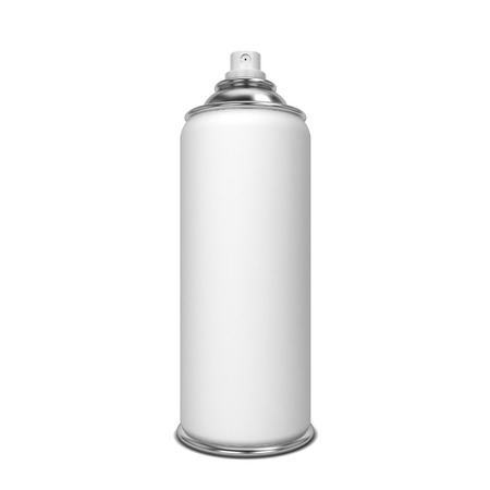 spray paint can: Blank spray. 3d illustration isolated on white background Stock Photo