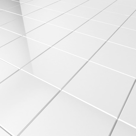 White tiles. 3d background