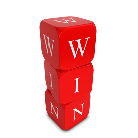 odds: Win dices. 3d illustration isolated on white background Stock Photo