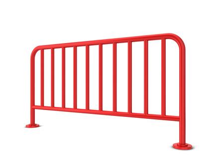 Metal barrier. 3d illustration isolated on white background illustration